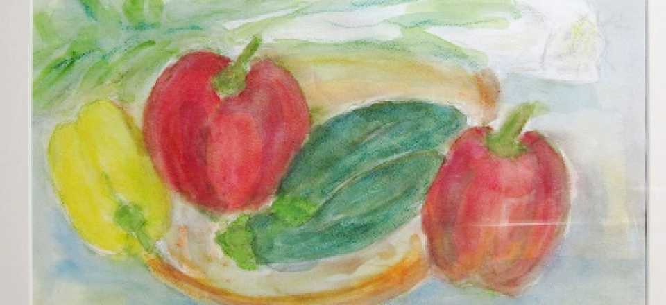 夏野菜水彩画